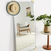 Standing Brass-Capped Mirror
