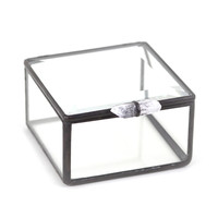 Glass Box With Crystal Handle