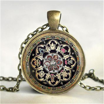 Tibetan Buddhist Mandala Necklace