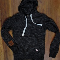 Saddles & Lace Solid Hoodie - Charcoal