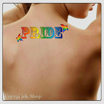 Temporary Tattoo Pride Waterproof Fake Tattoos Thin Durable