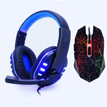 Gaming headphone Earphone Gaming Headset Headphone Xbox One Headset with microphone Led Light for pc ps4 playstation 4 laptop