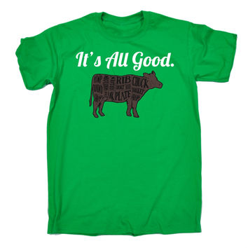 123t USA Men's It's All Good Beef Cow Design Funny T-Shirt