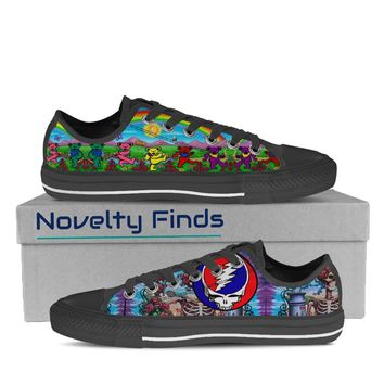 Grateful Dead Mens Low Tops