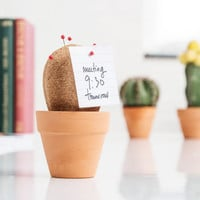 Cork Cactus Desk Tidy