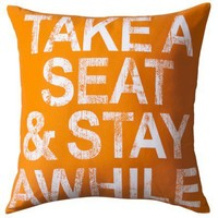 "TOO by Blu Dot Multicolor Dec Pillow Take a seat  - 18""X18"""