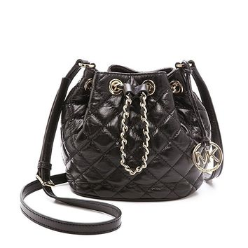 MICHAEL Michael Kors Women's Frankie Quilted Small Bucket Bag