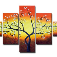 Forked Branches Canvas Wall Art