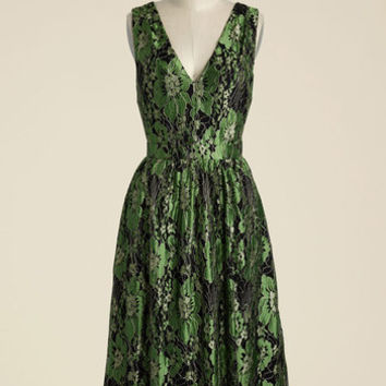 Occasion Elation Lace Dress in Emerald | Mod Retro Vintage Dresses | ModCloth.com
