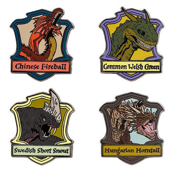 Universal Studios Harry Potter Triwizard Dragons Miniature Pin Set New with Card