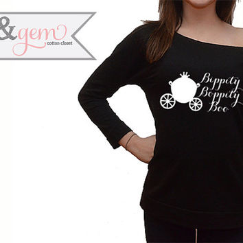 "Disney's Cinderella Shirt ""Bippity Boppity Boo"" with Carriage // Disney Cinderella Sweatshirt // Disney Lover Shirt // Cinderella Shirt"