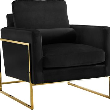Mila Black Velvet Chair