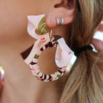 Here & There Earrings: Pink/Multi