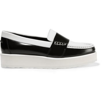 Pierre Hardy Leather loafers – 54% at THE OUTNET.COM