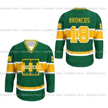 Humboldt Broncos Jersey 18 Customized Any Name Any Number Stitched Men Ice  Hockey Jersey S-4XL Free Shipping