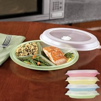 8-Pc. Divided Plate & Lid Set @ Fresh Finds