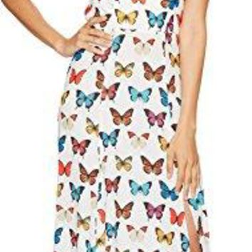 Show Me Your Mumu Women's Nicole Maxi Dress Butterflies In My Eyes Small