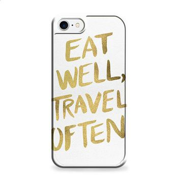 eat well travel often on gold iPhone 6 | iPhone 6S case
