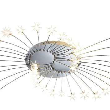 Wand 38 Light Low Voltage Flush complete with Star Glass