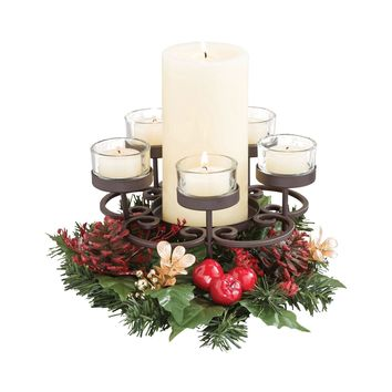 Traditions Centerpiece Rustic,Clear