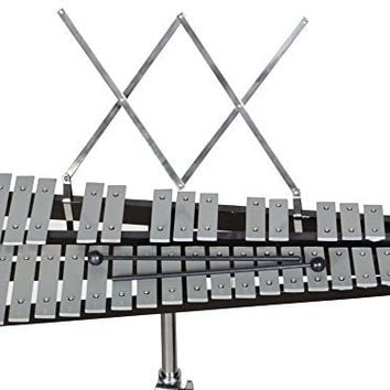 TMS® 32 Notes Percussion Glockenspiel Bell Kit with Practice Pad+Mallets+Sticks+Stand