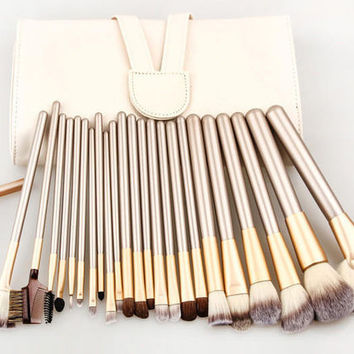 Professional 24pcs Makeup Brushes Set Cosmetic Tool Beauty,free shipping!