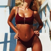 Merlot Bikini Top - Swimwear by Sabo Skirt