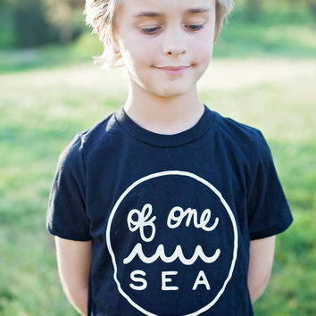 Kid's Black T-Shirt with Logo in White