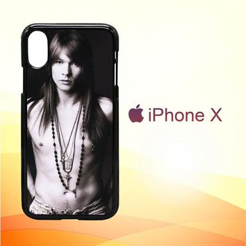 Axl Rose Guns and Roses wallpaper Y0566 iPhone X Case