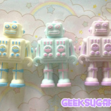 Kawaii Pastel Robot Necklace