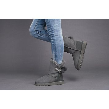 Best Sale Online Fasshion GREY UGG Limited Edition Classics Boots IRINA Women Shoes 10