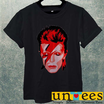 Low Price Men's Adult T-Shirt - Ziggy Stardust David Bowie design