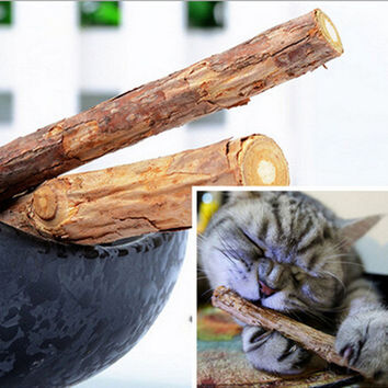 1 Bag 5Pcs Pet Cat Cleaning Teeth Pure Natural Catnip Pet Cat Molar Toothpaste Stick Chew Stick Cat Snacks Sticks