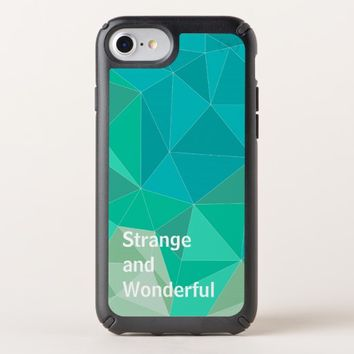 Geometric Triangles Blue & Aqua iPhone Case