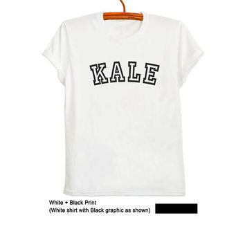 Kale Tee Shirt Cute Vegan Shirts Unisex T Shirt Kale Clothing T Shirt Cool Graphic Tee for Teens Kale T Shirt