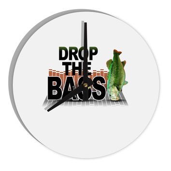 "Drop The Bass Fish 8"" Round Wall Clock"