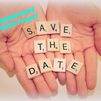 Save The Date - Engagement Photo Props
