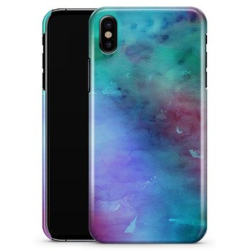 Blue 89608 Absorbed Watercolor Texture - iPhone X Clipit Case