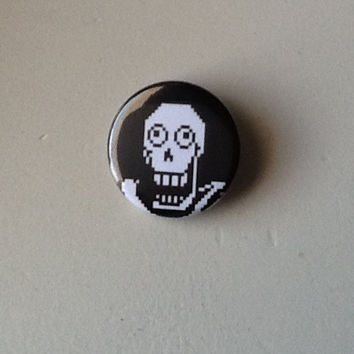 "Undertale- Papyrus Pinback Button 1.25"" silly face"