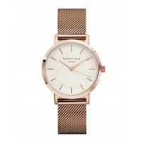 Rose gold ladies watch Tribeca - rose gold mesh strap | ROSEFIELD Watches