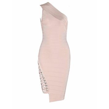 Ella Bodycon Nude Bandage dress