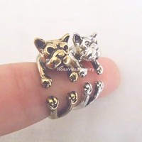 Wrapping Bull Dog Ring - 2 colors