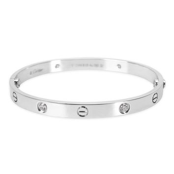 Cartier Diamond Love Bangle in 18KT White Gold 0.40 ctw