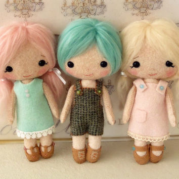 Cotton Candy Dolls pdf Pattern - Instant Download