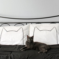 NEW  Cat Nap Pillow case Set : 200TC, home decor, bedding