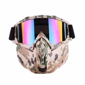 Ski Snowboard Snowmobile Goggles Men Women Snow Winter Windproof Skiing Glasses Motocycle Riding Sunglasses with Face Mask