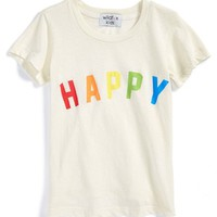 Girl's Wildfox 'Happy' Graphic Tee