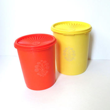 Vintage Tupperware Containers, Servalier Canisters