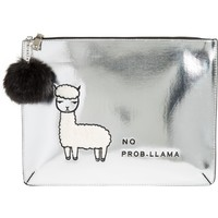 Evelyn K Metallic No Prob-Llama Synthetic Clutch | Nordstrom