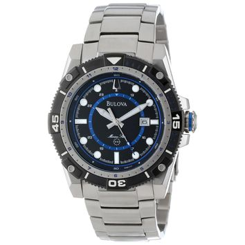 Bulova 98B177 Men's Marine Star Sports Black Dial Steel Bracelet Quartz Watch
